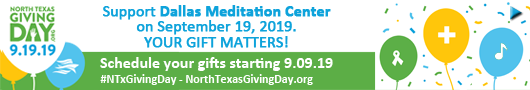 Support Dallas Meditation Center on North Texas Giving Day