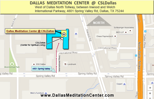 Diagram for Dallas Meditation Center @ CSL Dallas