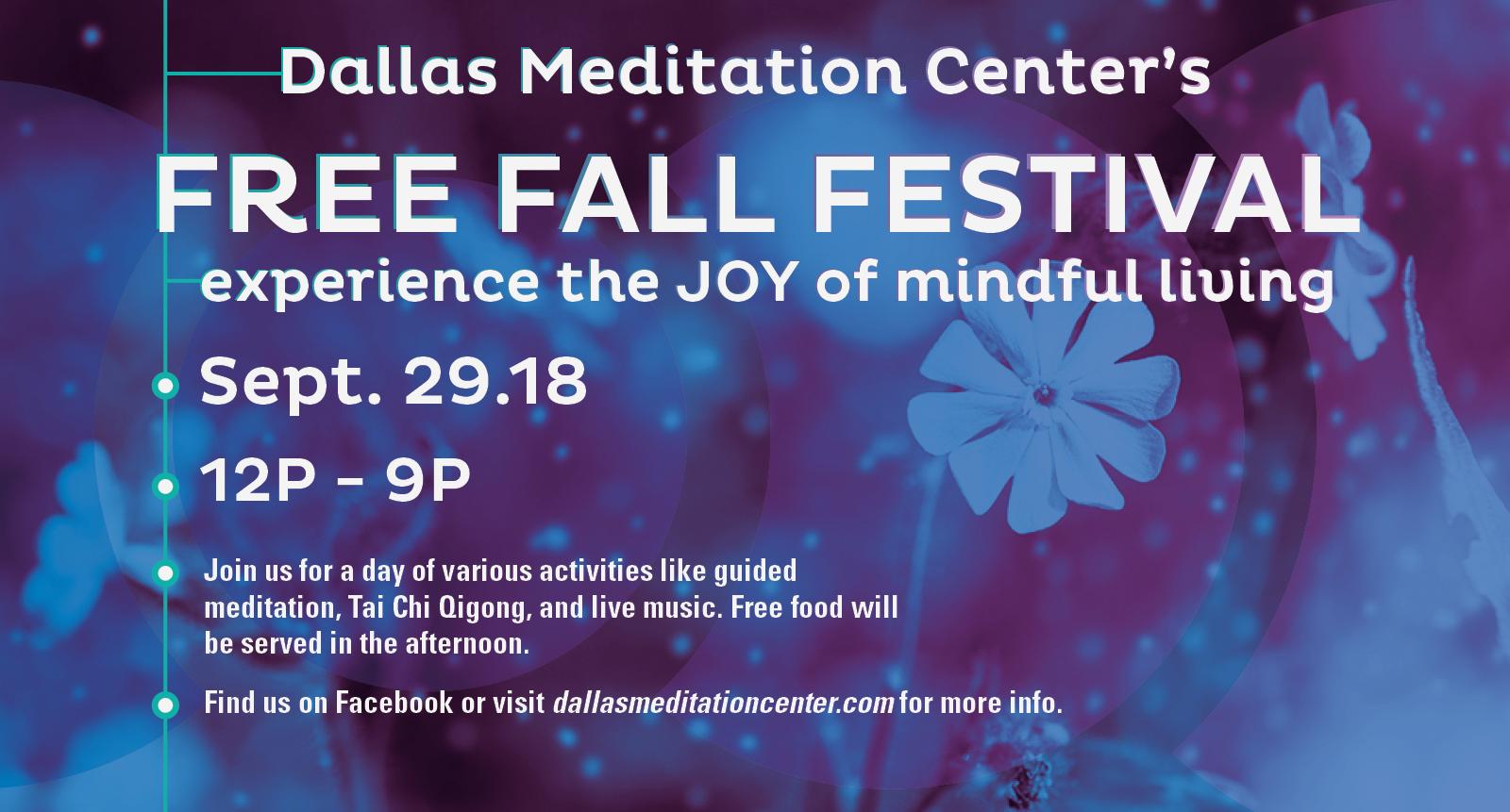 Dallas Meditation Center Fall Festival