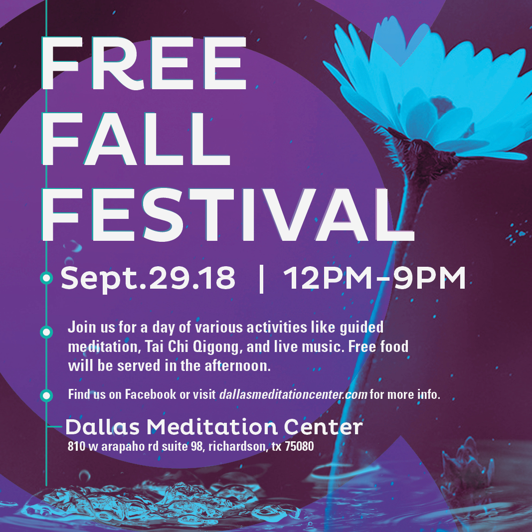 Dallas Meditation Center Fall Festival